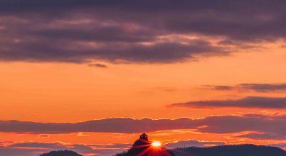Fagyos naplemente áprilisban