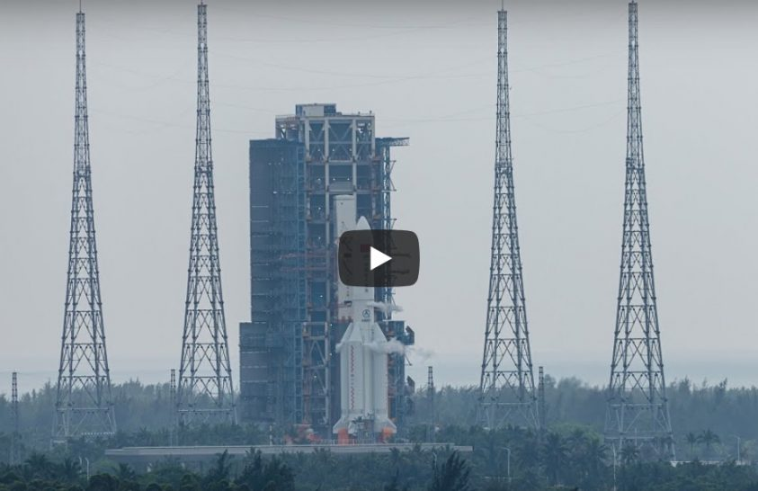 Felbocsátották az új kínai űrállomás első elemét