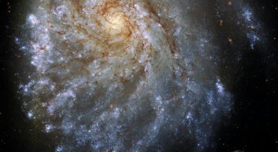 Eltorzult galaxist fotózott a Hubble