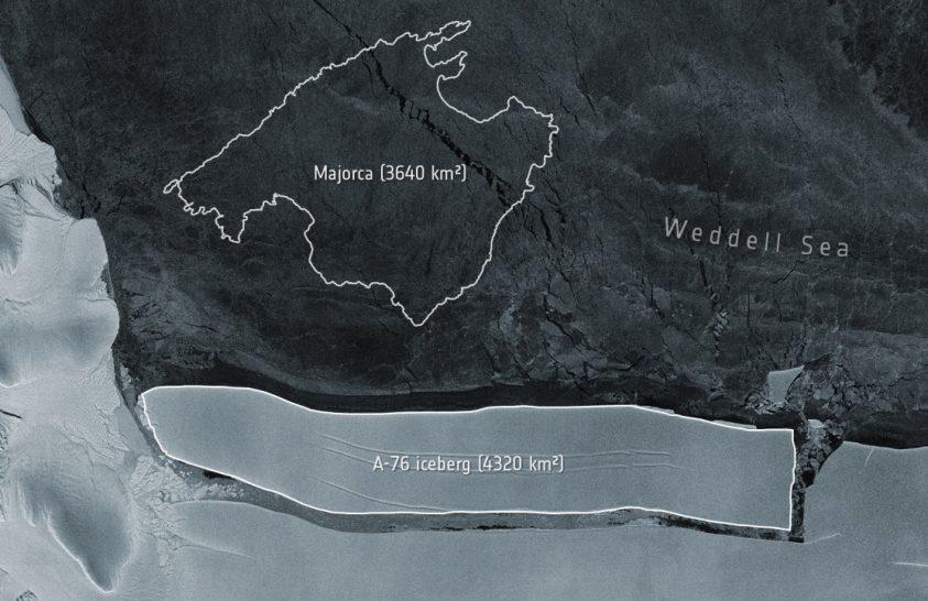 Újabb óriás jégtábla született