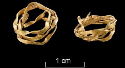 Ritka arany hajdíszt találtak egy bronzkori nő sírjában