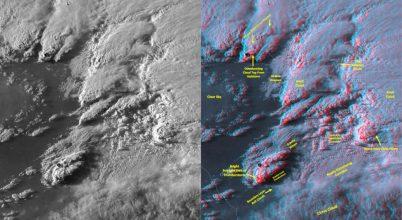 Felhők műholdképe 3 dimenziós videókon
