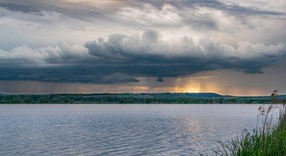 Napfény és Viharfelhők a Kis-Balaton felett