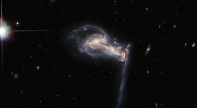 Veszekedő kozmikus testvéreket fotózott a Hubble