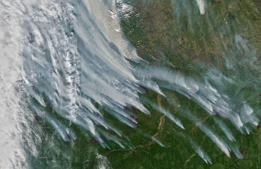 Példátlan erdőtűz pusztít Szibériában