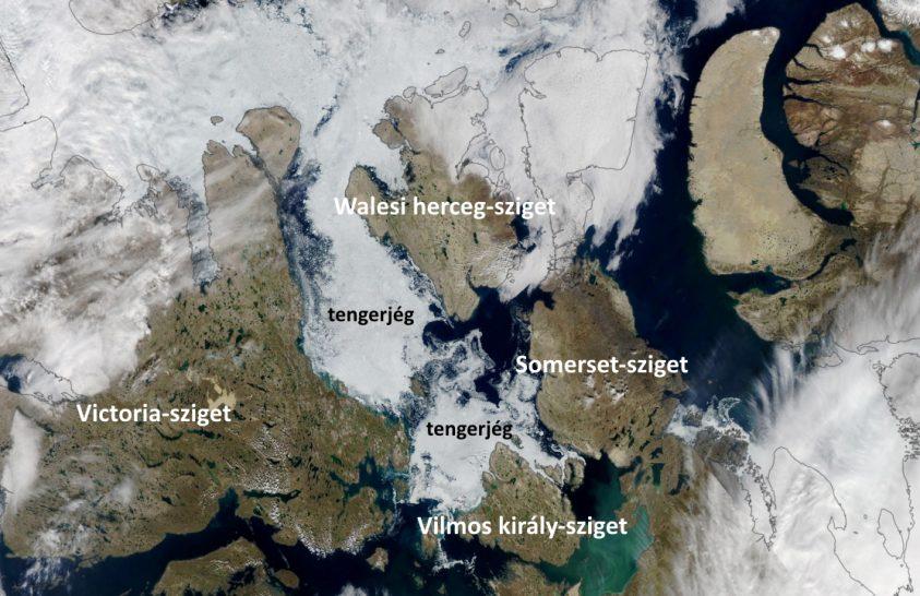 Jég az északnyugati átjáró területén